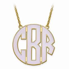 Monogram Neclace Welcome To Store Name Store Slogan