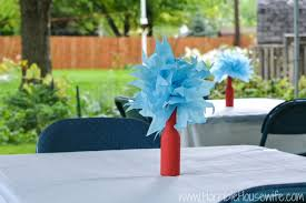 dr seuss centerpieces thing 1 and thing 2 pregnancy announcement party