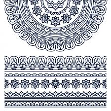 boho style ornament design vector free