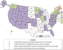 Map Of 50 States by Same Marriage Laws