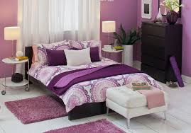 Teenage Bedroom Wall Colors - kids bedroom yellow purple little girls bedroom with purple wall