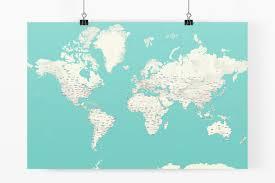 World Map Poster Large Digital Modern World Map Hight Printable Download Large New