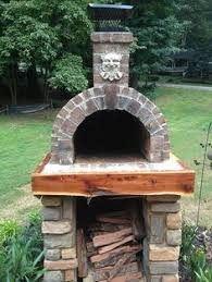 Brick Oven Backyard the shiley family wood fired brick pizza oven in south carolina