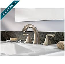How To Install Pfister Bathroom Faucet by Brushed Nickel Selia Widespread Bath Faucet F 049 Slkk Pfister