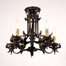 Spanish Revival Chandelier Wonderful Antique Spanish Revival Semi Flush Mount Iron Five Light