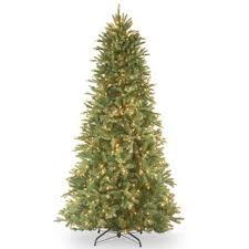 7 foot slim pre lit artificial tree with metal stand