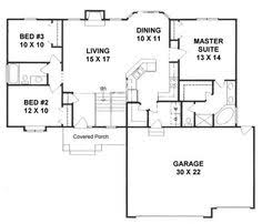 Small One Level House Plans Ranch Southern Traditional House Plan 97612 Level One New Master