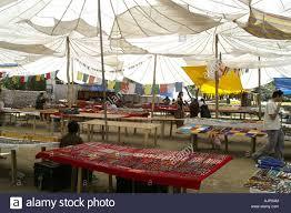 Market Stall Canopy by Tibetan Jewellery Souvenir Stall Market Street Leh Ladakh India