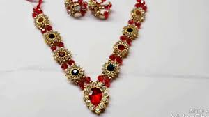 beautiful stone necklace images Beautiful haar and kangan of radha rani stone necklace and bengal jpg