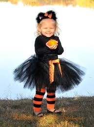 Black Cat Halloween Costume Kids Costume Ribbons Curls Bowtique