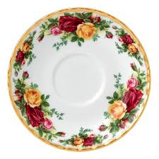 country roses tea saucer royal albert us