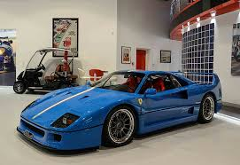 blue f40 with tricolore stripe is a turner