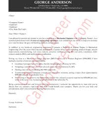 licensed mechanical engineer cover letter
