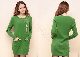 buy green crew neck womens cable knit sweaters long pullover dress