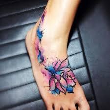 37 lotus tattoos on foot