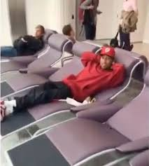 Whos That Lounging In My Chair Kylie Jenner Grinds On Top Of Boyfriend Tyga In X Rated Airport