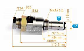 komatsu pressure valve komatsu main relief valve
