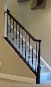 metal landing banister and railing color glossy black staircase handrail not style paint colors