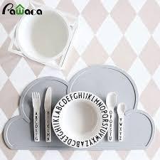 set de cuisine enfant nuage forme silicone isolation pad set de cuisine enfants de table