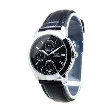 Jam Tangan Casio Diameter Kecil casio casual mtp 1192e 1a black jam tangan pria