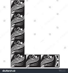 vector illustration alphabet letter graphic stock vector