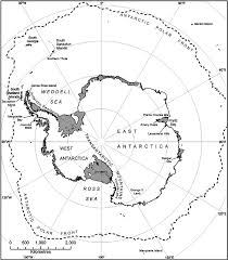 Southern Ocean Map General Map Of Antarctica And The Southern Ocean Indicating