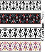 ancient pattern seamless set of antique borders from