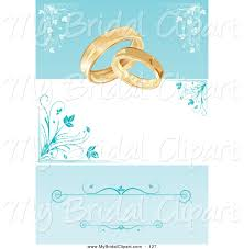 Background Images For Wedding Invitation Cards Bridal Clipart Of A Wedding Card Invite With Rings And A Blue
