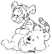 baby winnie pooh tigger coloring pages bltidm