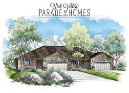 Twin Home Floor Plans Utah Valley Home Builders Association Parade Of Homes