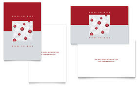 indesign template greeting card red ornaments greeting card template word publisher