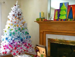 slim white tree decorating ideaswhite