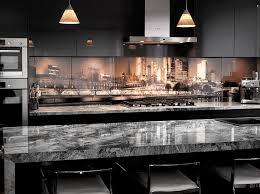 printed glass splashback kitchen design melbourne skyline