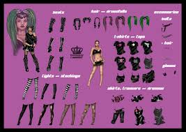 cybergoth dress up dollie by electronicrainbow on deviantart