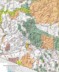 Arizona Elevation Map by Peaklist Prominence Lists And Maps