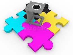 cymk puzzle cmyk loupe stock illustration illustration of jigsaw 31672084