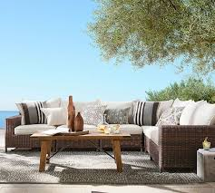 Pottery Barn Furniture Build Your Own Torrey All Weather Wicker Square Arm Sectional