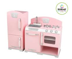 Childrens Wooden Kitchen Kidkraft by Kidkrat 2 Piece Retro Kitchen U0026 Refrigeratorf