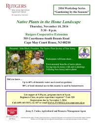 benefits of native plants cape may county nj official website