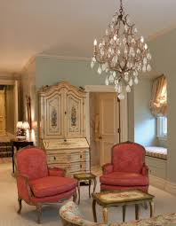 decorating elegant family room design with chandelier by