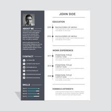 Creative Resume Free Templates Modern Swiss Style Resume Cv Psd Template 17 Best Ideas About