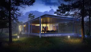 artstation farnsworth house among pine trees victor serdobintsev