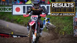 motocross race results results sheet 2017 mxgp of sweden motocross feature stories
