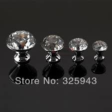 glass crystal door knobs 2pcs 40mm modern k9 crystal door knobs and handles glass dresser