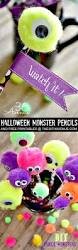 halloween craft diy monster pencils the 36th avenue