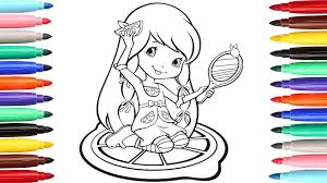 lemon meringue strawberry shortcake coloring pages coloring book