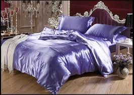 purple blue silk bedding set sheets queen full twin quilt duvet