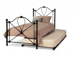 Wood And Iron Bedroom Furniture by Bedroom Wood And Wrought Trundle Bed Frame For Inspiring Bed