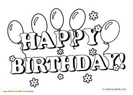 coloring pages for birthdays printables printable birthday coloring pages happy page w 8709 unknown