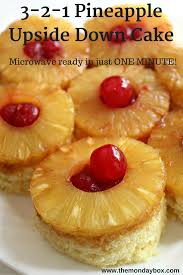 3 2 1 pineapple upside down mug cake the monday box
